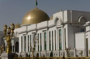 Der Präsidentenpalast in Ashgabat
