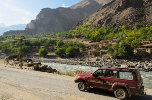 Panj River, tadjikisch-afghanische Grenze