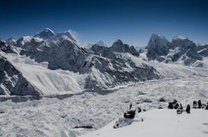 Gokyo Ri Panorama mit Ngozumpa Gletscher